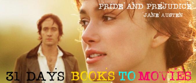 Pride and Prejudice books to movies