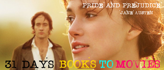 Pride and Prejudice books to movies