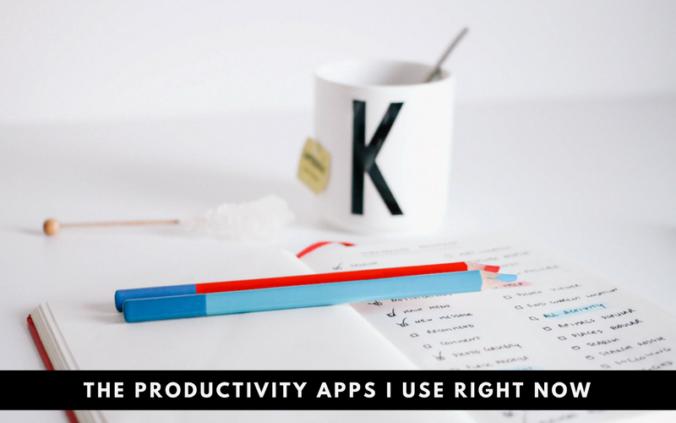 Productivity apps I use