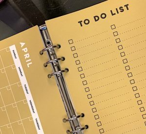 My checklist for 2020